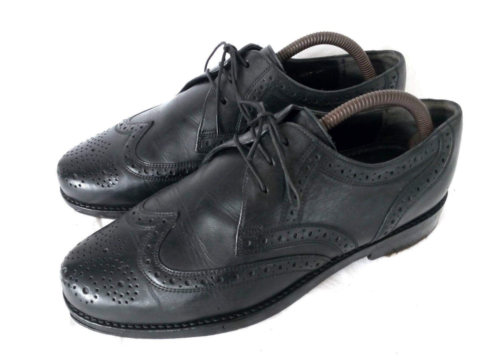 Apollo vintage Full brogue derby Affaires Chaussures Hommes Noir Cuir 6 39,5