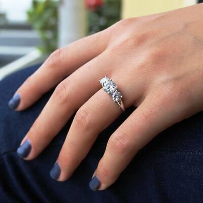 Pear Cut Halo Diamond Ring Engagement Wedding White Gold Finish Soulmate Ring