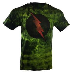Men-039-s-T-shirt-Tie-Dye-The-Flash-DC-Comics-Universe-100-cotton-Soft-Fabric