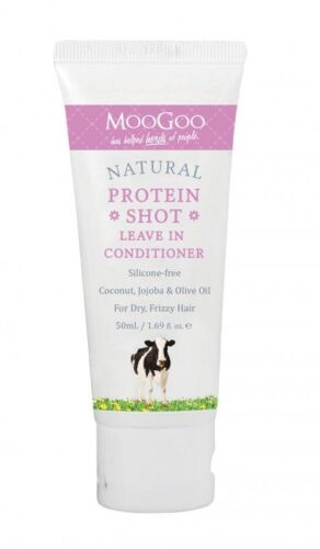 MOOGOO NATURAL PROTEIN SHOT LEAVE IN CONDITIONER FOR DRY FRIZZY HAIR 50G