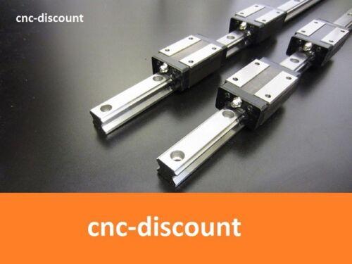 4x linéaire VOITURE ORANGE linéaire Fraise Vague CNC Set 20 x 300 mm 2x linéaire Leadership