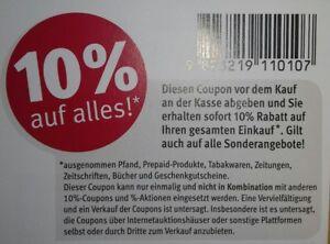 18 Stück 10 % Rossmann Coupons Gutscheine ggf. DM & Müller März 31.03.2019