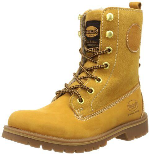 Schuhe 35aa305 Gerli Boots By Leder Dockers 300910 Winter Damen Golden Stiefel tf0Swq1Axq