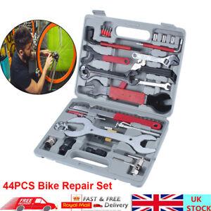 44pcs Bike Tool Kit Maintenance Bicycle Repair Wrench Cycling Screwdriver Set UK