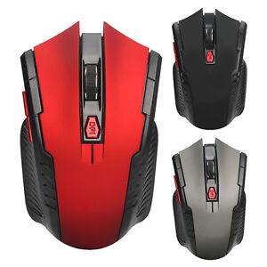 Wireless-Gaming-Maus-USB-optisch-5-600DPI-2-4GHz-Schwarz-Grau-oder-Rot-6-Tasten