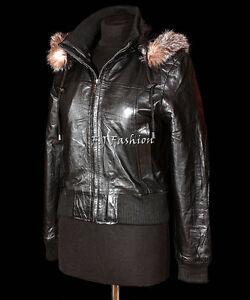 Real Real Bomber Hooded Matilda Fur Fur Women's Hoody Ladies Winter Black fwwpv1