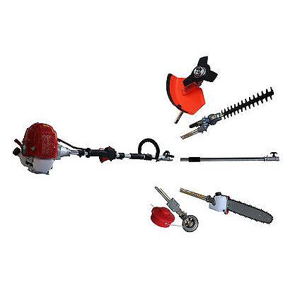 5in1 52cc Petrol Garden Multitool Strimmer Hedge Trimmer Pruner Saw Cutter