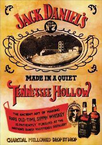 A0 A1 A2 A3 A4 Jack Daniels Bottle Vintage CANVAS Art Print
