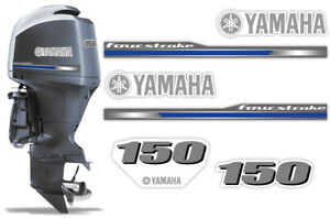 Yamaha-150HP-Four-4-Stroke-2013-Decal-Kit-Outboard-Engine-Graphics-Sticker-USA
