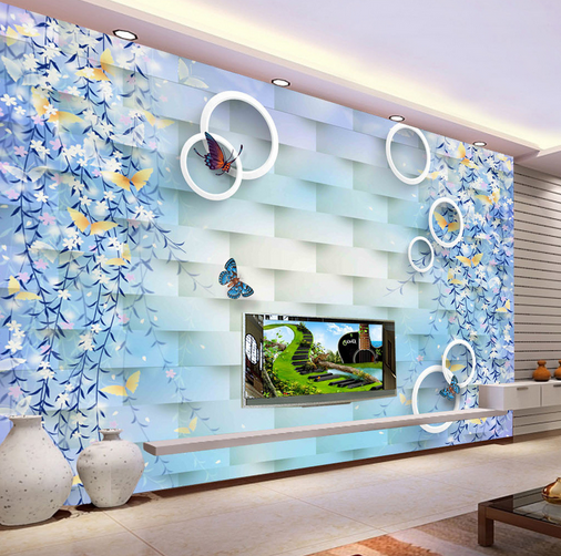 3D Willow Butterflys 8 Wall Paper Murals Wall Print Wall Wallpaper Mural AU Kyra