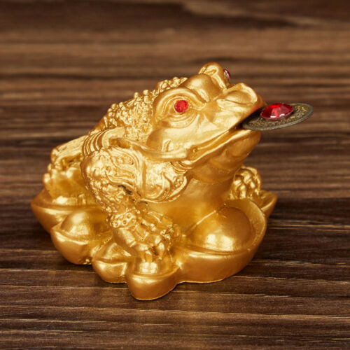 Feng Shui Argent Chanceux Fortune Grenouille Crapaud Coin Ornements Chanceux LC