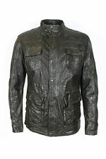 Pearly King - Resolute Brown Leather Jacket - Size M *NEW WITH TAGS* RRP£335