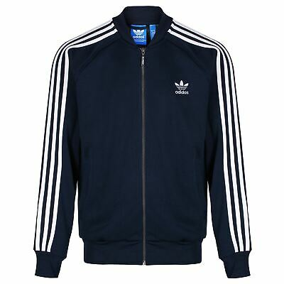 Adidas Originals Herren Superstar Track Top Jacke Navy Retro Vintage Trefoil NEU | eBay