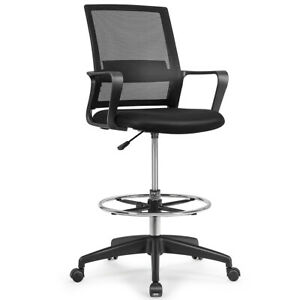 Drafting Chair Tall Office Chair for Standing Desk Adjustable Height w/Footrest
