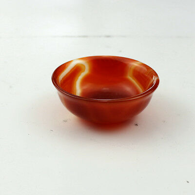 China handmade red Agate carving Natural Agate bowl Kung Fu tea bowl