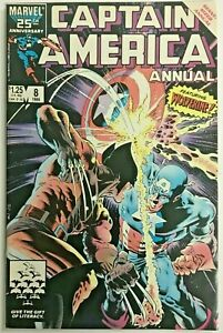 CAPTAIN-AMERICA-ANNUAL-8-VF-NM-1986-VS-WOLVERINE-MARVEL-COMICS