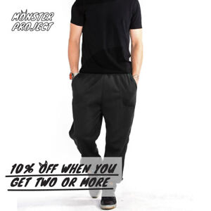 HI-MEN-WOMEN-UNISEX-PLAIN-SWEATPANTS-CASUAL-3-POCKET-JOGGER-WARM-FLEECE-PANTS