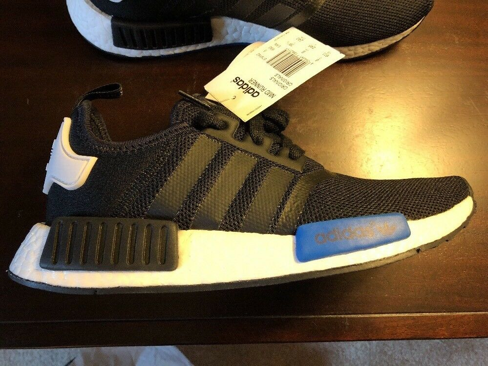 Adidas Nmd Runner Black/black/white. Us Men's Size 6.5, Women's 7.5