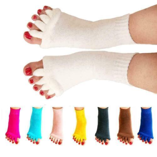 Foot Alignment Sock Massage Open Toe Separator Five Yoga GYM Sports Health New