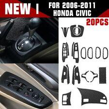 A Set Carbon Fiber Pattern Car Interior Decals Trim For 2006 2011 Honda Civic Fits 2006 Civic