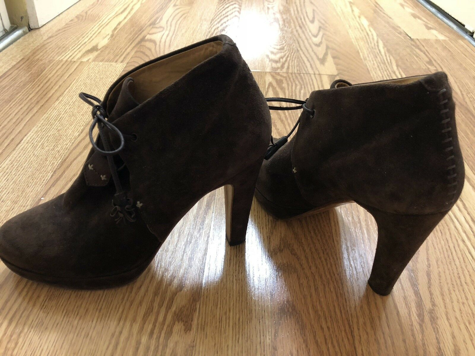 RAG & BONE High  Heel Suede Ankle bottes    Sz 9.5  40 Couleur marron 9e42f8