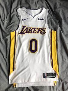huge discount 1b308 3ac69 Details about Nike Kyle Kuzma Authentic Association Rookie Jersey 40 S  White Lakers Sunday MVP