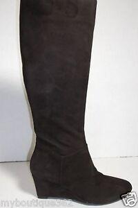MARC-FISHER-MF-VERIFIES-tall-wedge-daek-brown-WOMEN-BOOTS-SZ-5-5M-NEW-IN-BOX