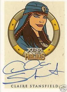 Hercules-Xena-Claire-Stansfield-Alti-Autograph-auto-insert-trading-card