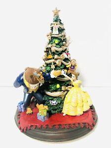 "Disney Beauty & The Beast Christmas Tree Music & Light Up 8"" Figurine HTF"