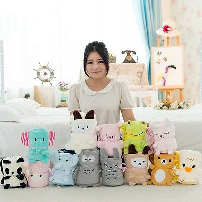 Cartoon Cute Elephant Blanket Air Conditioning Infant Soft Plush Blankets TO
