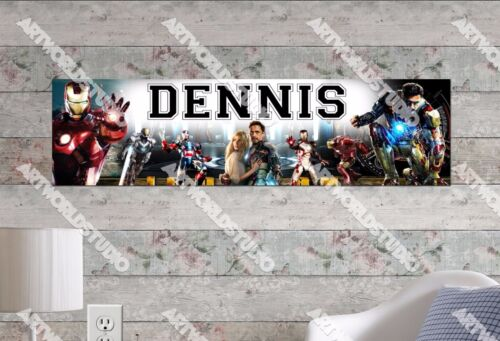 Personalized//Customized Ironman Name Poster Wall Art Decoration Banner
