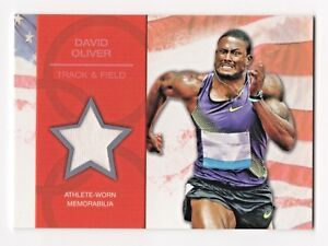2012-Topps-USA-Olympic-Team-Relics-David-Oliver-Track-and-Field-High-Hurdles