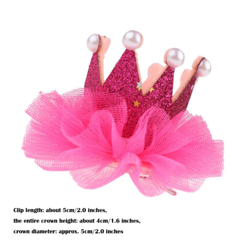 Baby Boy Girl First Birthday Party Hat Flower Princess Crown Hair Accessory Dec