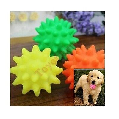 Pet Cat Puppy Dog Squeaky Ball Toy Chew Squeaker Rubber Pet Training Toy
