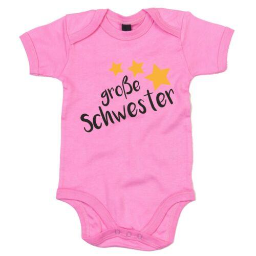 Familienzuwachs Geschwister Baby Große Schwester Baby Body Sterne