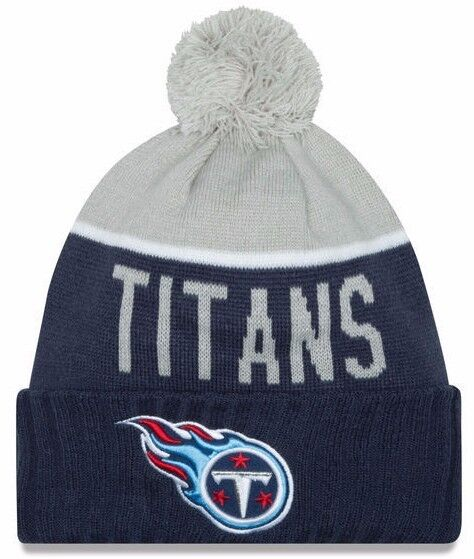 promo code 531da 9d191 ... canada tennessee titans era knit hat on field sideline beanie stocking  cap 91d83 d0256