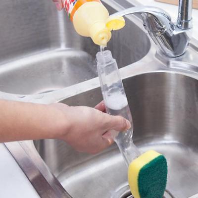 Dishmatic Washing Up Brush Heavy Duty Scourer Sponge Green Head Dish Cleaning FW