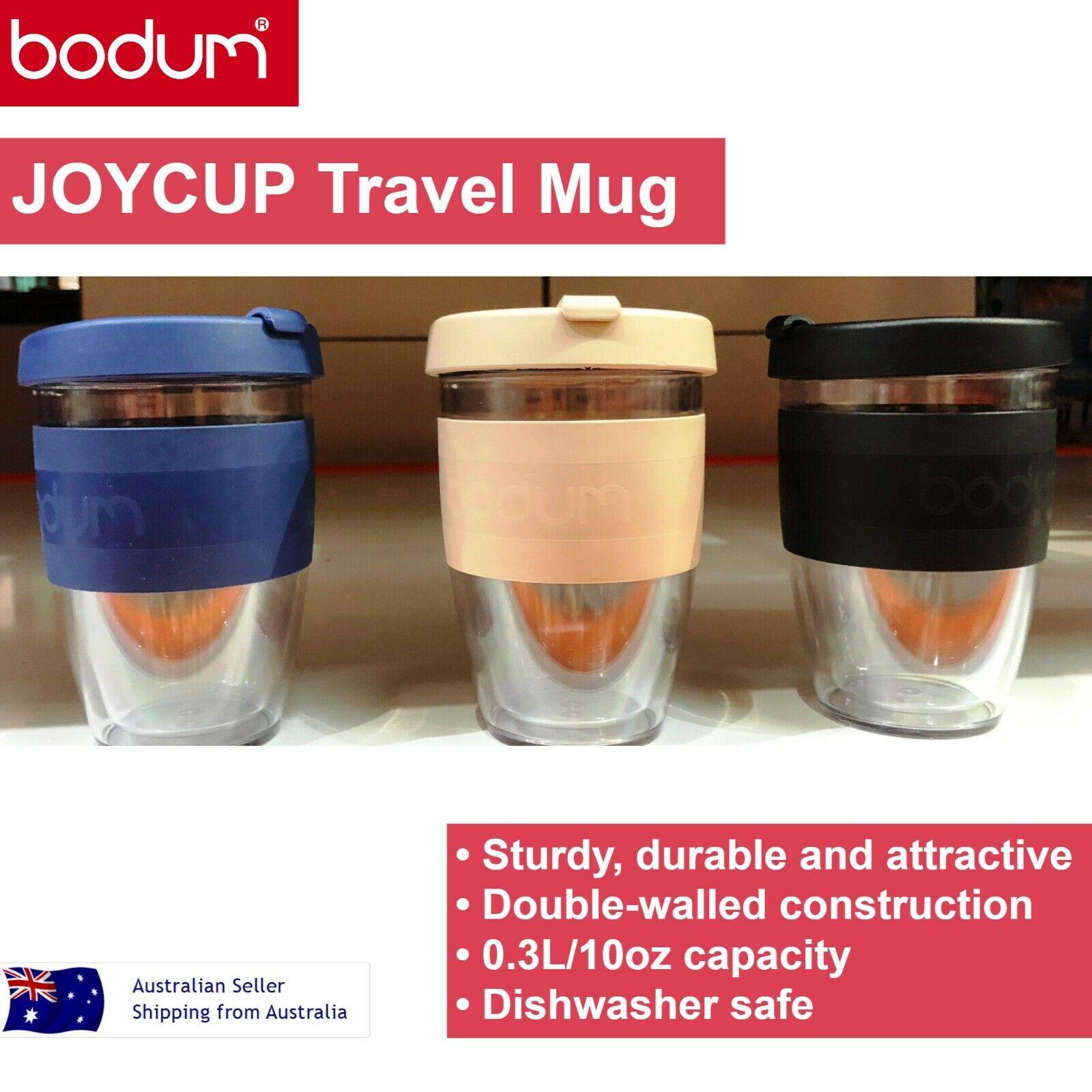 3 X Bodum Joycup Double Wall Plastic