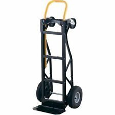 Hand Truck Dolly And Cart 700lb Nylon Pneumatic Wheels Aluminum For Outdoor Use