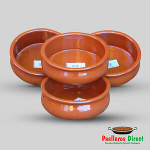 Image is loading Set-of-4-x-18cm-Spanish-Terracotta-Tapas-  sc 1 st  eBay & Set of 4 x 18cm Spanish Terracotta Tapas Dishes / Bowls / Cazuelas ...