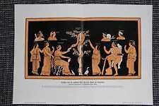 Herakles Herkules Pflücken der goldenen Äpfel der Hesperiden FARBDRUCK von 1906