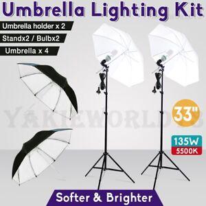 Photography-Studio-Soft-Umbrella-Lighting-Photo-Video-Reflector-Light-Stand-Kit
