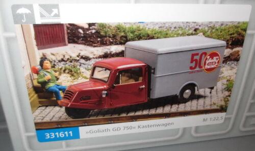 Pola 331611 Piste G /_ Goliath DG 750 encadré voiture /_ pour Gartenbahn 1:22,5 /_/_ NEUF