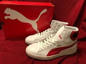 7622a5517573 PUMA FIRST ROUND white Regal Red Men s Basketball Shoes Size 9 New ...