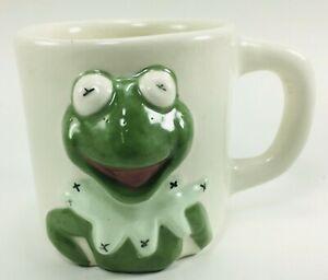 Kermit-The-Frog-3D-Coffee-Mug-Handmade-Muppets-Cup-Vintage