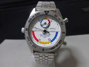 Vintage-1989-SEIKO-Quartz-watch-Yacht-Timer-8M37-6000