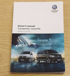 Details about VW CARAVELLE TRANSPORTER HANDBOOK OWNERS MANUAL 2015-2017  BOOK LATEST 11  2016