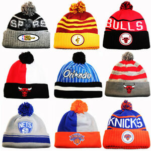 Mitchell   Ness NBA Cuffed Knit Pom Beanie Winter Hat Sports Team ... dc4074650df0