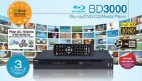 Blu-ray Player 1080p Full Hd Multi Media Full Region Digital 7.1 With Lan Dlna