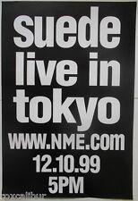 SUEDE Bernard Butler Live In Tokyo 1999 Rare Original Official UK NME POSTER